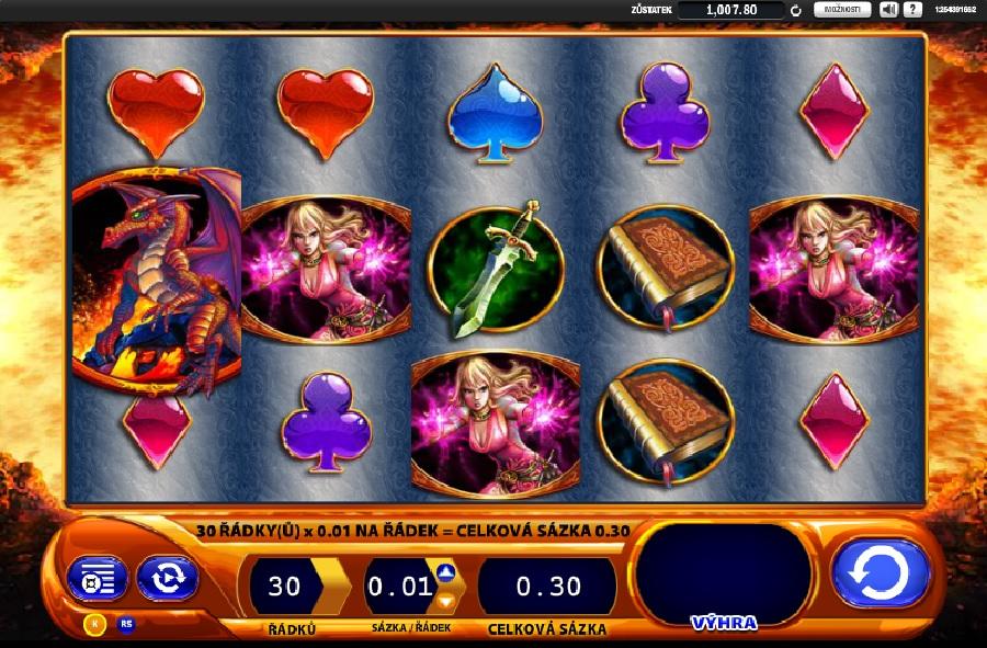 Automatová hra Dragon´s Inferno