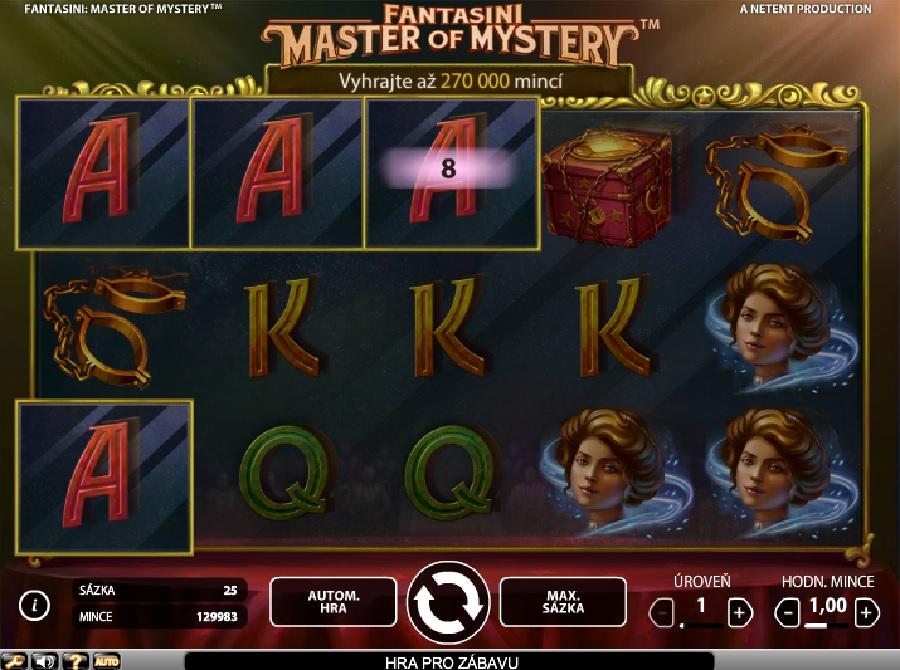 Fantasini: Master of Mystery výherný automat