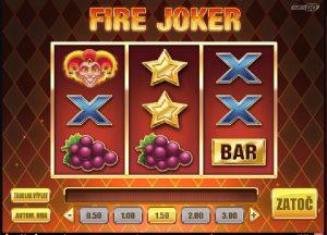 Hracie výherné automaty Fire Joker