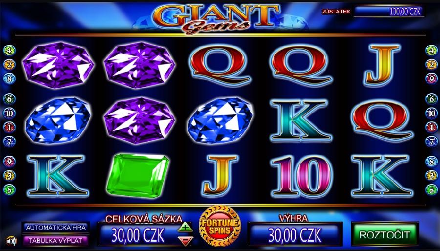 Výherní automaty Giant Gems