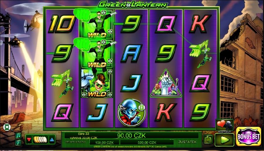 Hracie automaty Green Lantern