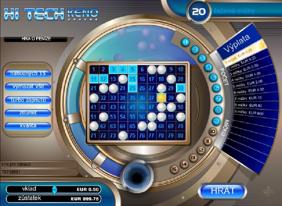 Hi Tech Keno automat