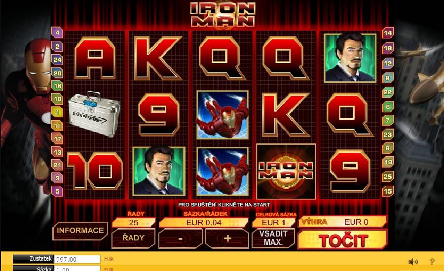 Iron Man výherný automat