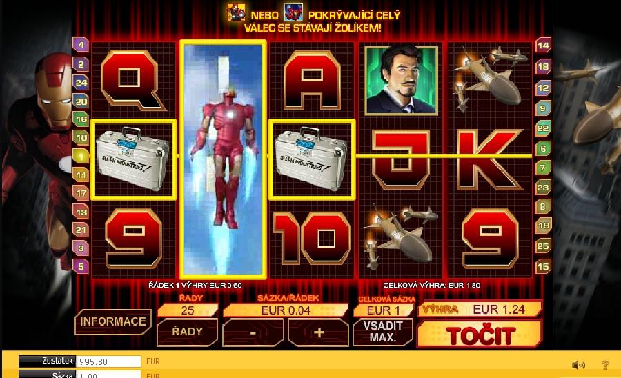 Hrací automaty Iron Man