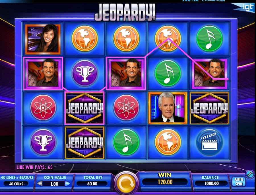 Jeopardy hracie automaty