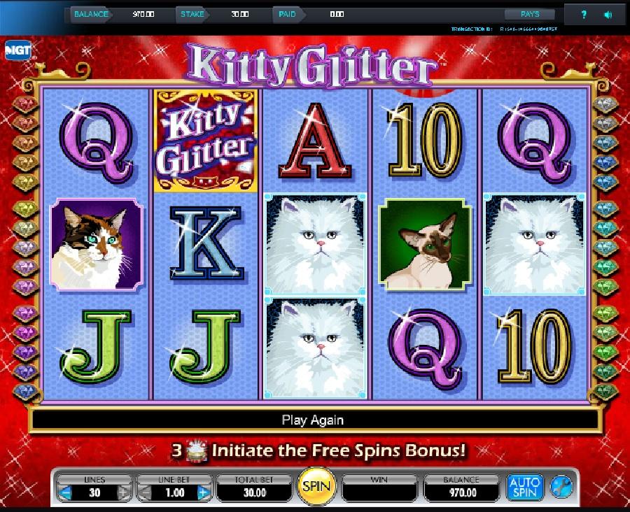 Výherní automaty Kitty Glitter