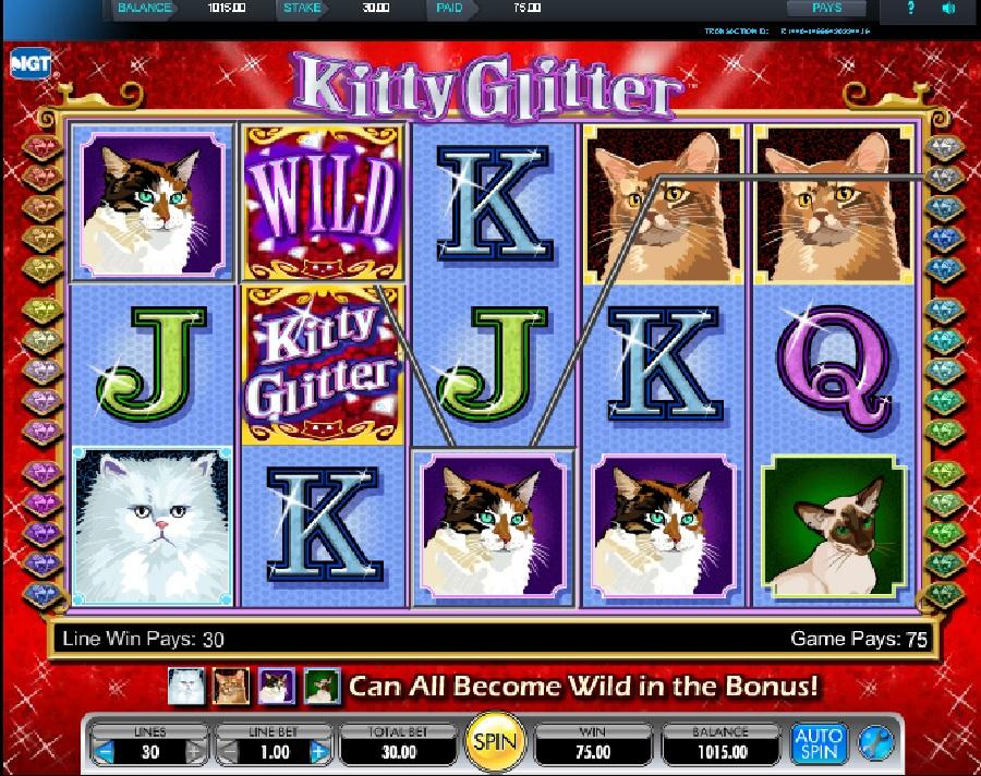 Automatová hra Kitty Glitter