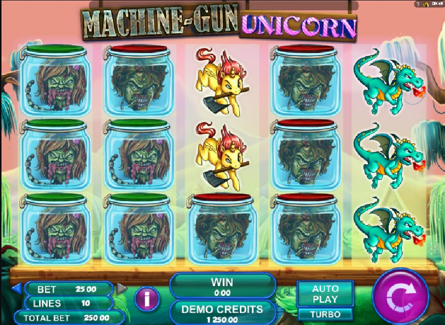Výherní automat Machine gun Unicorn