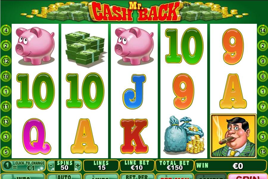 Hracie automaty Mr Cashback