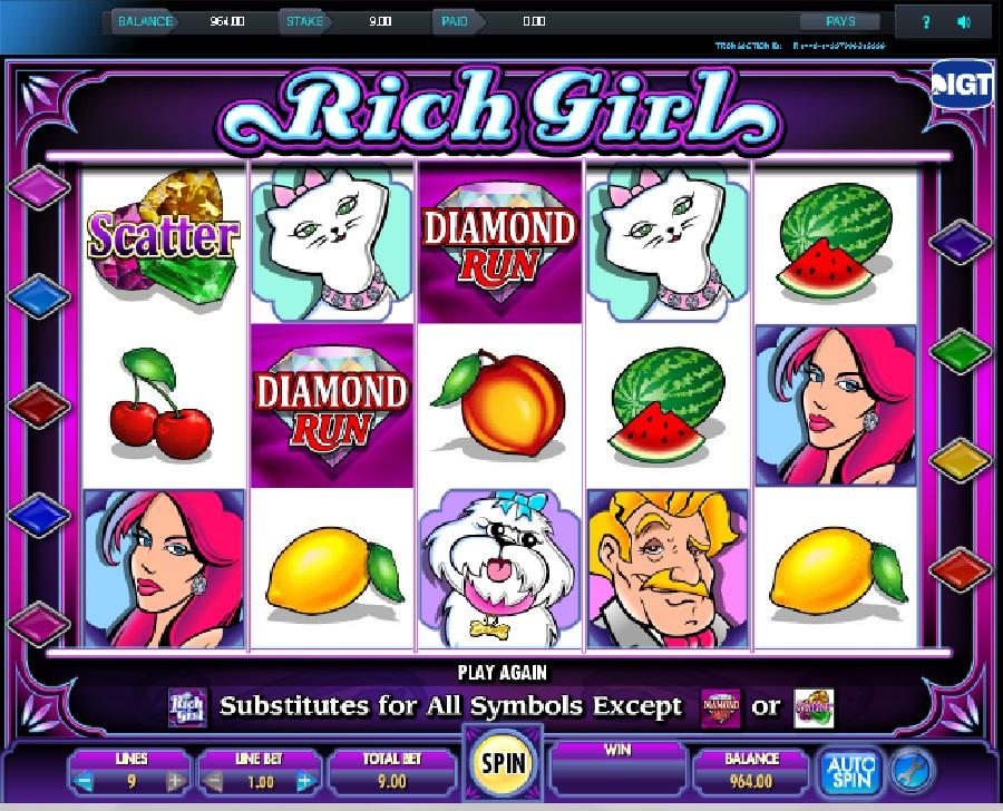 She's a rich girl hrací automaty