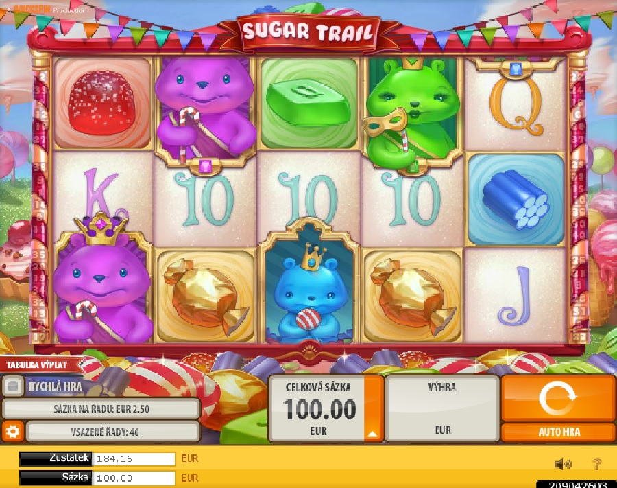 Hrací automaty Sugar Trail