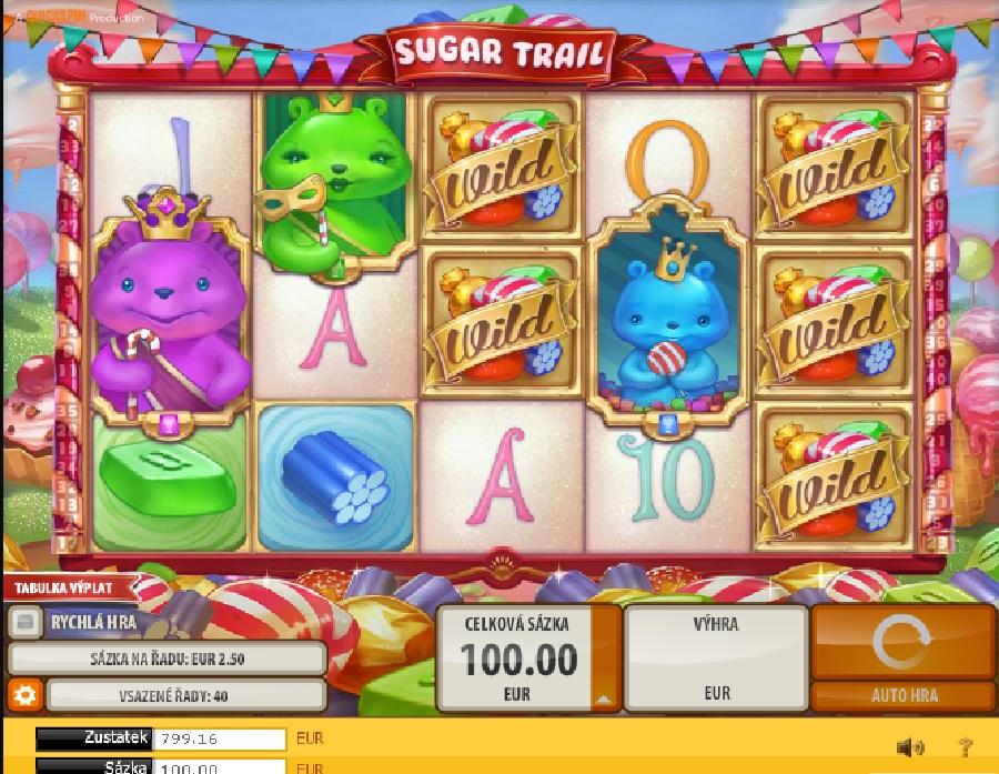 Výherné automaty Sugar Trail
