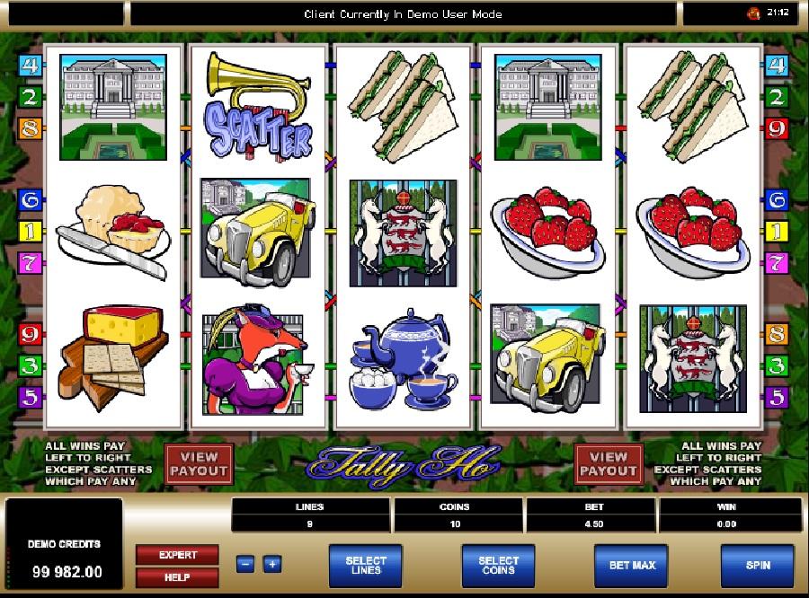 Výherní automaty Tally Ho