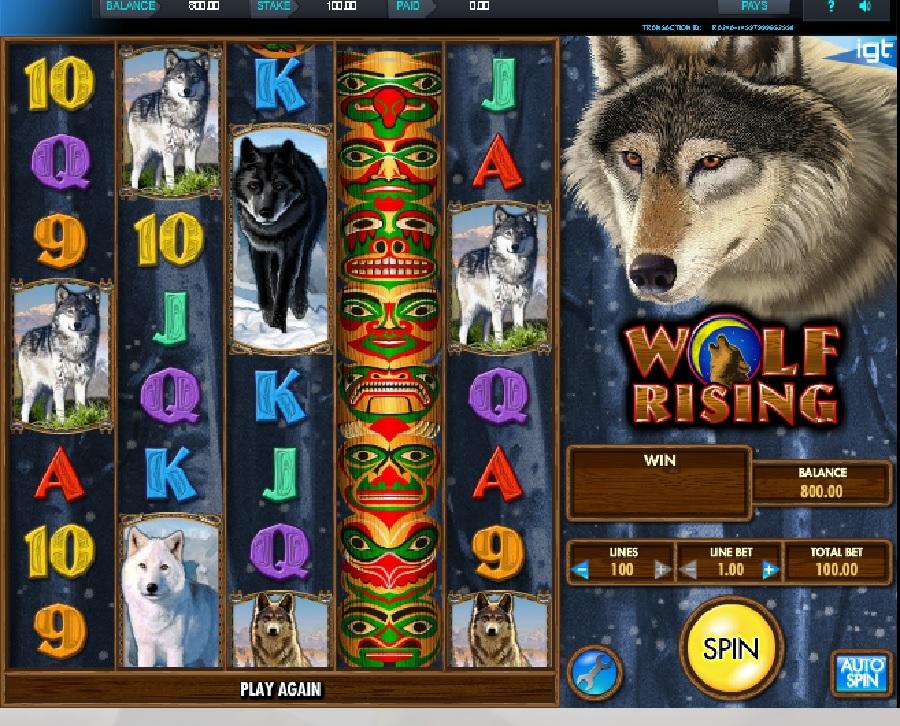 Výhení automaty Wolf Rising
