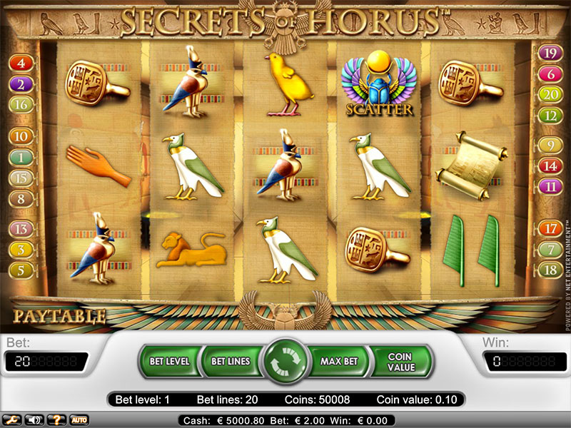 Secret Horus slot game
