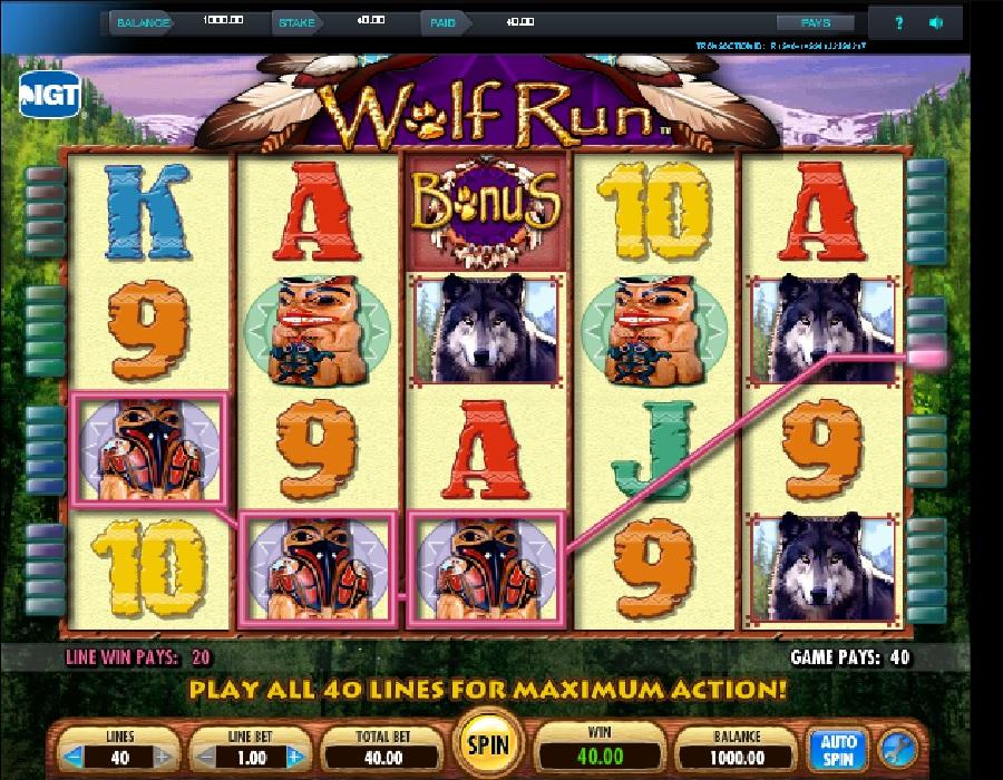 Hrací automaty Wolf Run