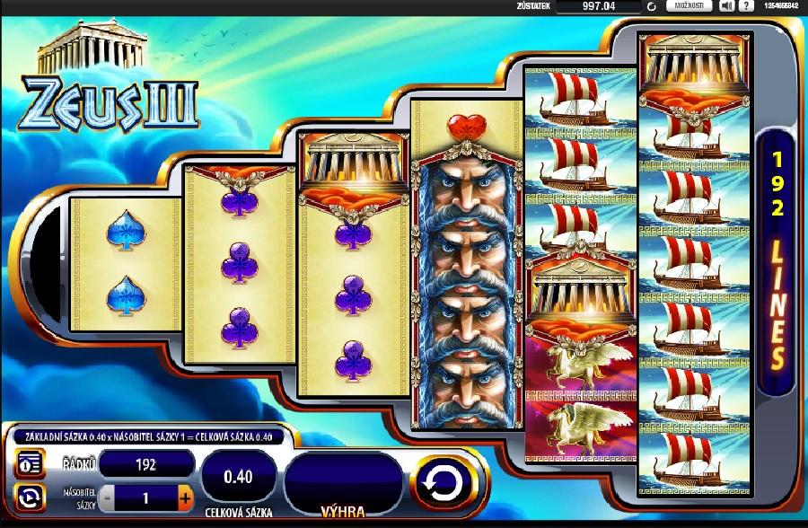 Hrací automaty Zeus 3