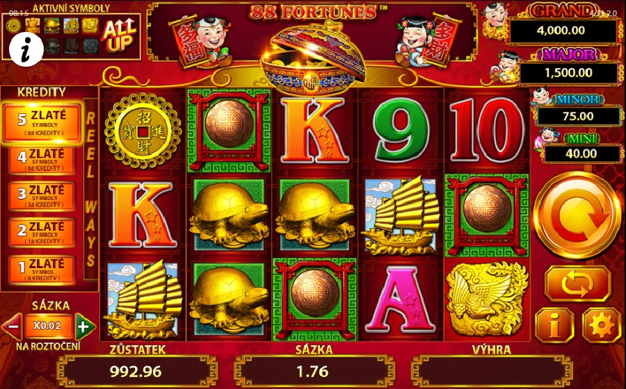 88 Fortunes automaty online