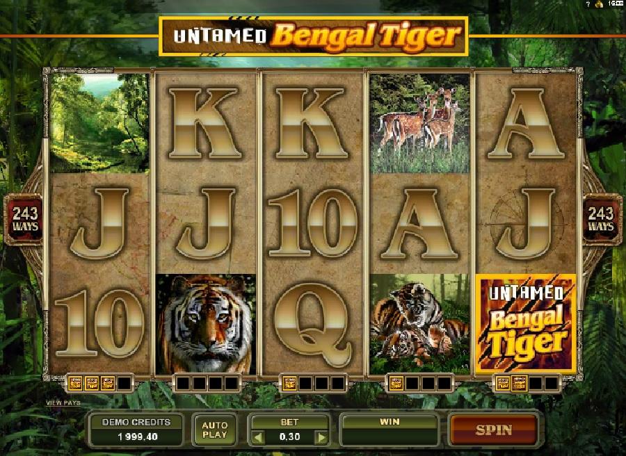 Untamed Bengal Tiger výherní automaty