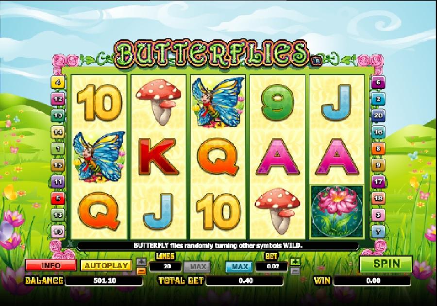 Hracie automaty Butterflies