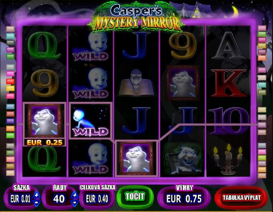 Casper výherné hracie automaty