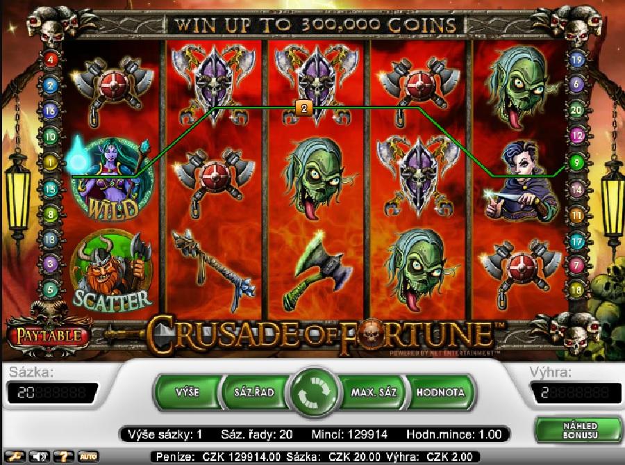 Crusaders of Fortune výherné hracie automaty