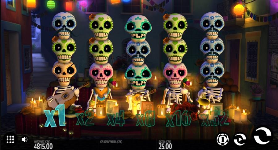 Hrací výherný automaty Esqueleto Esplosivo