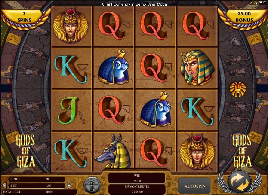 Gods of Giza automatová hra