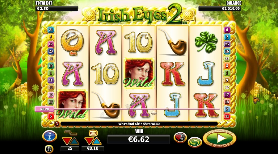Irish Eyes 2 slot game