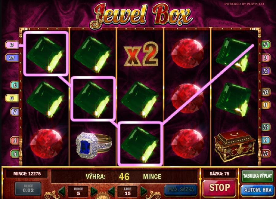 Jewel Box hracie automaty
