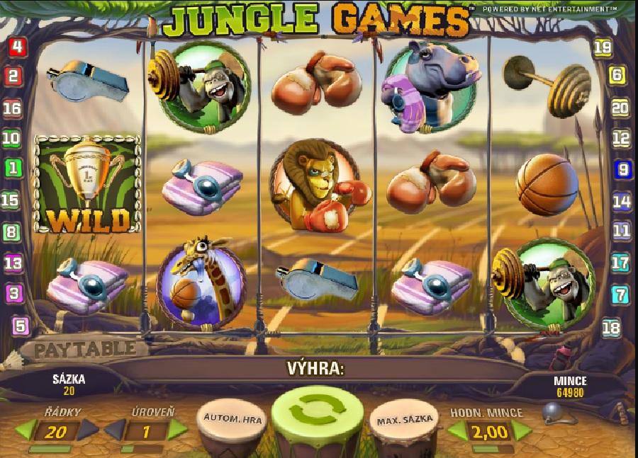 Jungle games hrací výherný automat