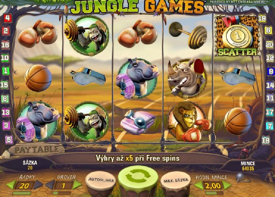 Automatová hra Jungle games