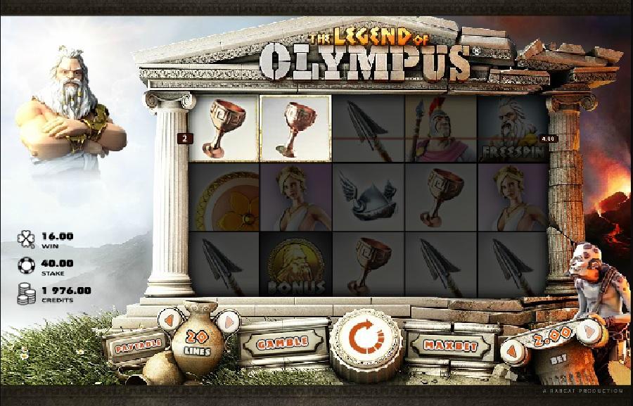 Legend of Olympus hrací automaty