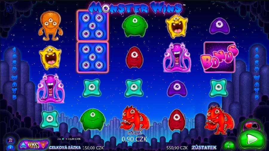 Výherní hrací automaty Monster Wins