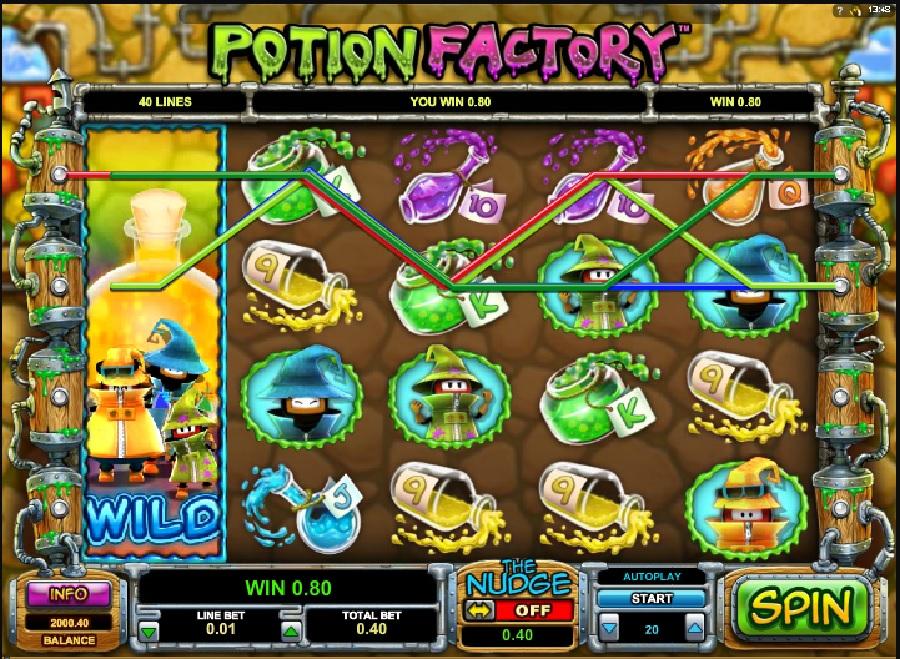 Výherné hracie automaty Potion Factory