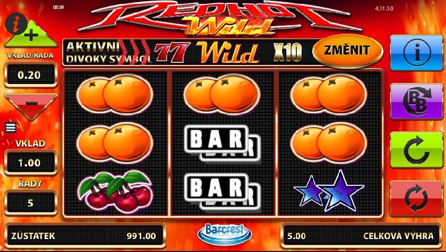 Automatová hra Red Hot Wilds