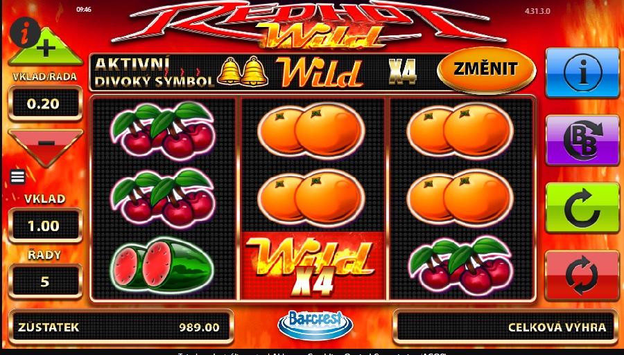 Hrací výherní automat Red Hot Wilds