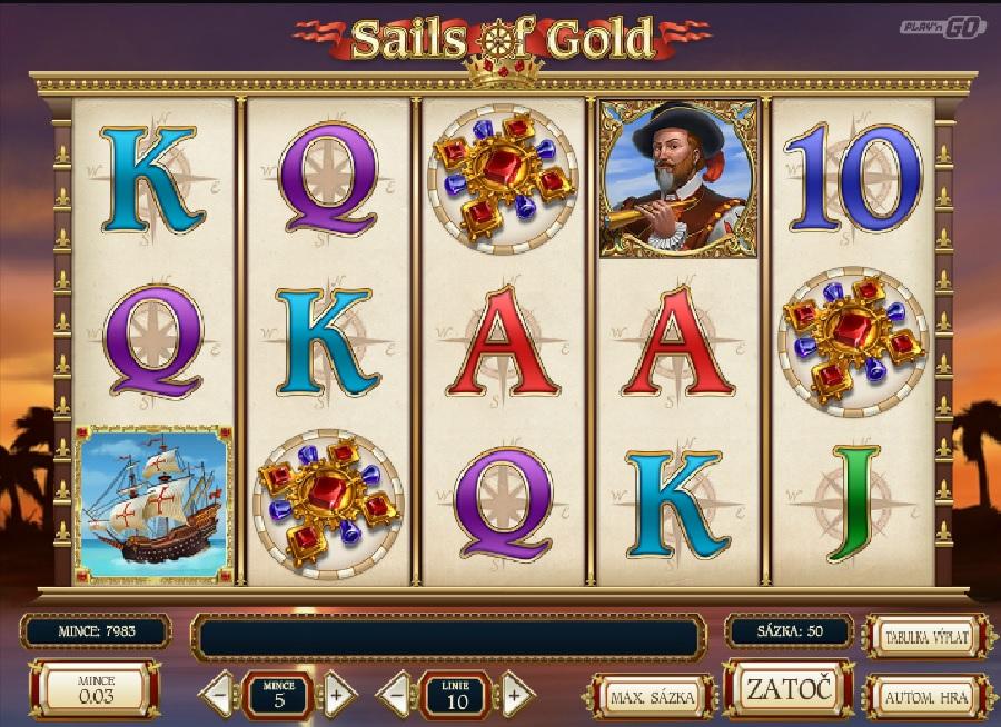 Výherné automaty Sails of Gold