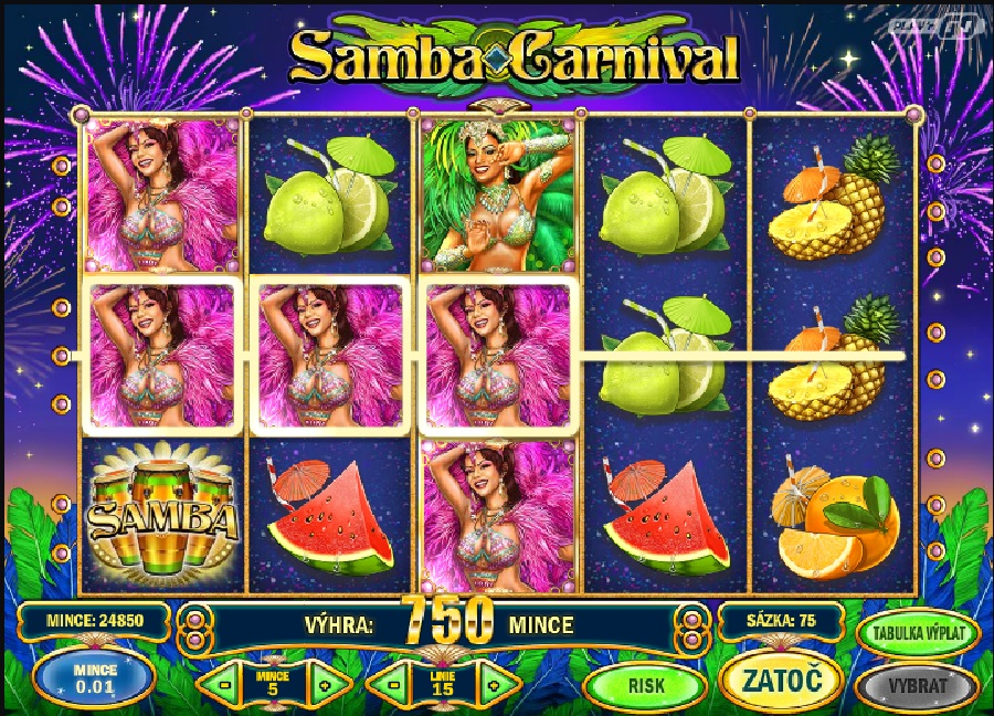 Hrací výherní automat Samba Carnival