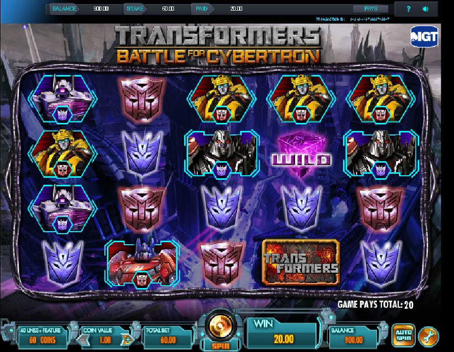 Transformers Slot Machine