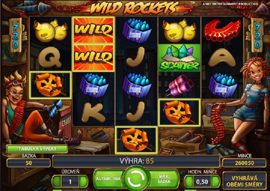 Wild Rockets výherné automaty