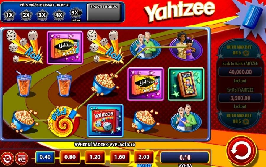 Výherný hrací automat Yahtzee