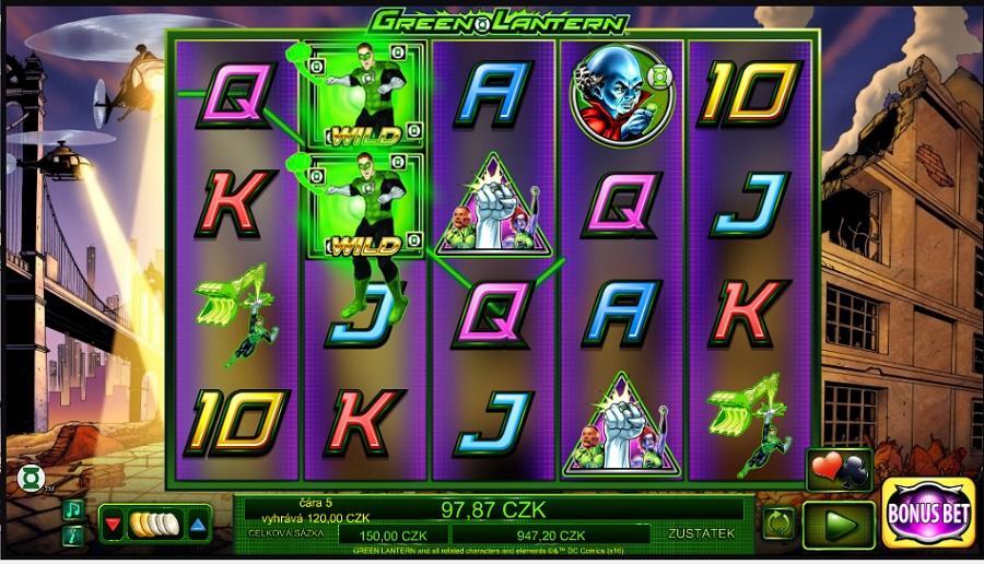 Hrací automat Green Lantern zadarmo
