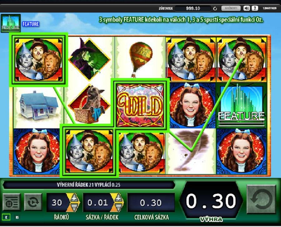 Hrací automat Wizard of Oz