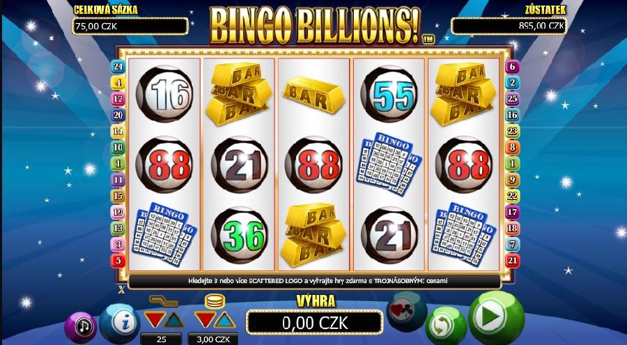 Hrací automaty Bingo Billions