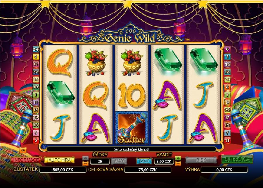 Genie Wild hrací automaty