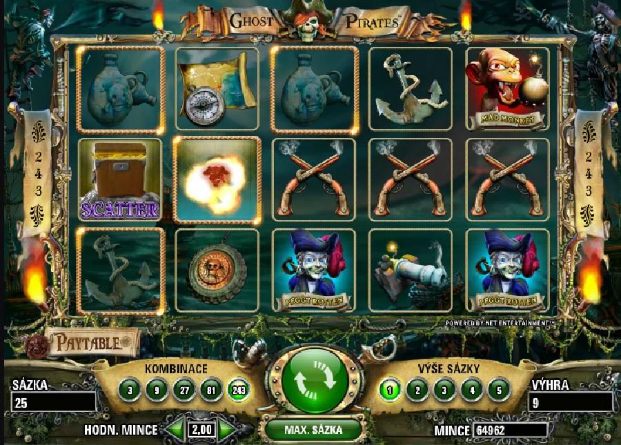 Výherní hrací automaty Ghost Pirates