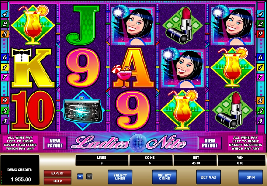 Hracie výherné automaty Ladies Nite