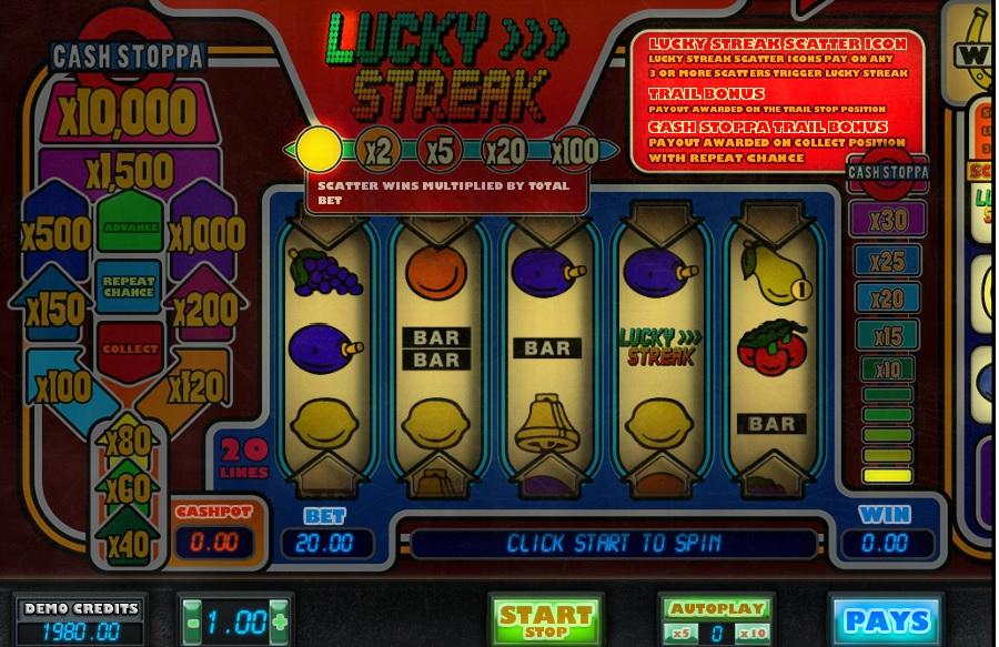 Výherné automaty Lucky Streak