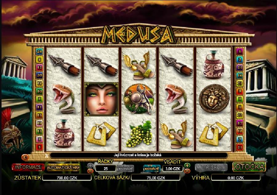 Hracie výherné automaty Medusa
